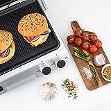 H.Koenig Contact Grill Plancha Electrique de table GR70 Inox 2000W  Ouverture 180° Professionnel, Plaques amovibles compatibles lave vaisselle, Multifonction Barbecue, Panini, Viandes, Sandwichs
