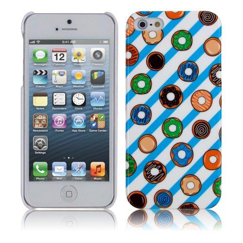 Elegante Funda para Samsung Galaxy S3I9300-Super Slim Hard Case-Carcasa rígida de PrimaCase Donuts (Weiß / Blau) iPhone 5S/5