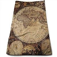 WBinHua Toallas, Toallas de Playa, Old World Map Kitchen Towels - Dish Cloth -