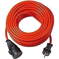 Brennenstuhl Bremaxx Verlängerungskabel (10m Kabel, für den Einsatz im Außenbereich IP44, einsetzbar bis -35°C, öl- und UV-beständig) orange
