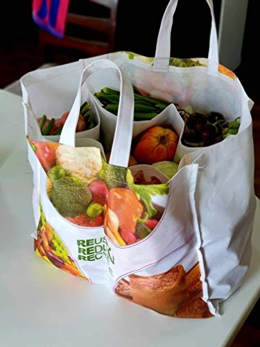 Vitara Organics Eco Vegetable Bag with 6 Pockets for Purchase Vegetables, Provision and More 51Ji2REpVlL