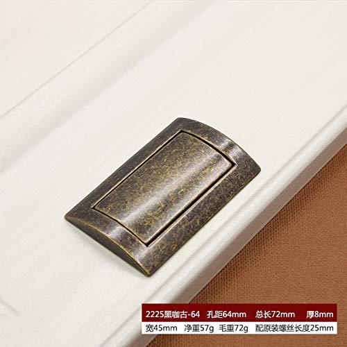 Unsichtbare Schranktür Griff Schublade versteckt flachen Griff eingebettet modernen minimalistischen Schrank Tatami Zugring 2225 schwarzer Kaffee alten -64 (Versteckte Messer, Schmuck)