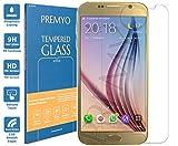 PREMYO cristal templado Galaxy S6. Protector cristal Samsung S6 con una dureza de 9H, bordes redondeados a 2,5D. Protector pantalla S6 Samsung