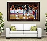 3D Wandtattoo Volleyball Spiel Frauen Turnier selbstklebend Wandbild Tattoo Wohnzimmer Wand Aufkleber 11L1628, Wandbild Größe F:ca. 162cmx97cm
