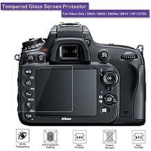 Fiimi - protector de pantalla LCD de cristal templado para Nikon D4S/D600/D800/D800E/D810/DF/d750, dureza 9H, 0,3mm de espesor, fabricado en cristal
