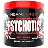 INSANE LABZ Psychotic Infused Preworkout Powerhouse, Fruit Punch, 35 Servings