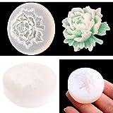 Jiamins, stampo in silicone 3D con fiore, a forma di rosa, stampi in silicone per realizzare gioielli in resina, per gioielli, pendenti e collane