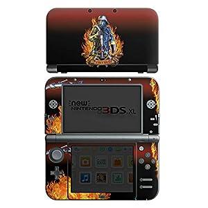 DeinDesign Skin kompatibel mit Nintendo New 3DS XL Folie Sticker Feuerwehrmann Feuerwehr Beruf