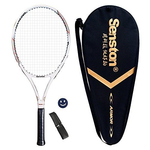 Junior Tennis Schläger (Senston Damen/Herren Tennisschläger Tennis Schläger Set mit Tennistasche,Overgrip,Vibrationsdämpfer - 6 Farbe)