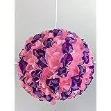 Purple Rose, Lampe Leuchte Lampenschirm Pendelleuchte Pendellampe Hängeleuchte Hängelampe Papierleuchte Papierlampe Reispapierlampe Designerlampe Wohnzimmerlampe Schlafzimmerlampe Deckenlampe