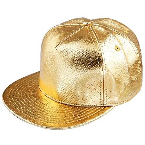 Gold Tarnung (Shanxing Snapback Cap Hip Hop Mütze Baseball Kappe für Herren und Damen, 011-Gold, Einheitsgröße)