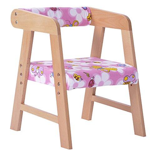 LJHA Tabouret pliable Tabouret créatif/enfants en bois massif fauteuil/tabouret d'étude réglable/tabouret de jardin d'enfants chaise patchwork (Couleur : A)