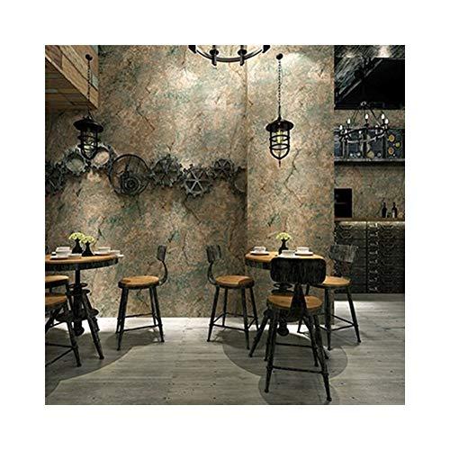 Scokmmer carta da parati carta da parati vintage in rilievo 3d retro in cemento carta da parati in pvc ristorante cafe soggiorno sfondo rivestimento murale in vinile art decor #z8965 (color : green)