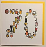70. Geburtstag Karte–Bier–Handgezeichnetes Design