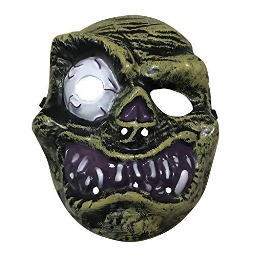 DingLong Halloween Maske Gruselig - Zyklopen Terror Maske Totenkopf Maske Gesicht Kostüm für Herren Frau Jugendliche, Party Fasching Venedig Maske Karneval Verkleidung Maskenball - Gruselige Kostüm Für Jugendliche