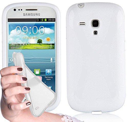 Occasion, Cadorabo Coque pour Samsung Galaxy S3 MINI, BLANC Design d'occasion  Livré partout en Belgique