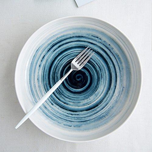 Yxsd Plat en céramique Creative Home Grand Disque, 10 Pouces (Couleur : A)