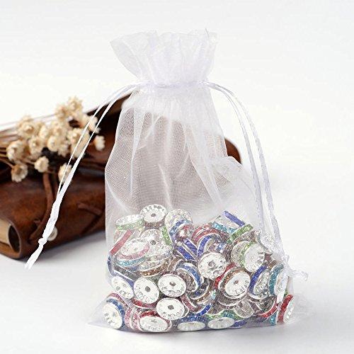 eiß Organza Taschen Hochzeit Favor Jewelry Geschenktaschen für Party-Hochzeit, 12x 10cm ()