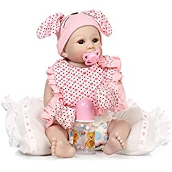 Terabithia 20 Pulgadas Rare Lifelike Silicona Vinilo Completo Cuerpo Reborn Bebé Niña Muñecas