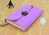 GYX Vintage Stil Filz Tagebuch Buch mit Schloss 19,5cm * 13cm, 9Farben violett
