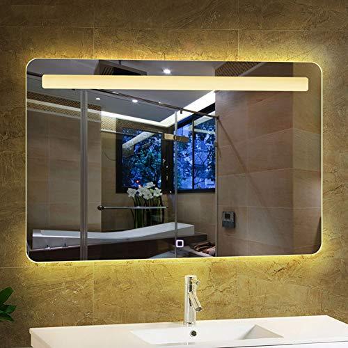 Mobile per bagno specchio morden led 600 x 800 mm con bluetooth + touch sensor + demister + display temperatura tempo + nuova funzione di chiamata musicale bluetooth