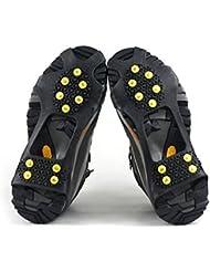 logei®1 par de zapatos con pinchos antideslizantes para hielo y nieve con 10 picos de nieve y hielo, Gr. 39-46
