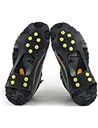 logei® 1 Paar Schuhspikes Schuhkrallen Stollen Eiskrallen anti Rutsch mit 10 Spikes für Schnee und Eis