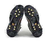 logei® 1 Paar Schuhspikes Schuhkrallen Stollen Eiskrallen anti Rutsch mit 10 Spikes für Schnee und Eis, Gr. 39-46