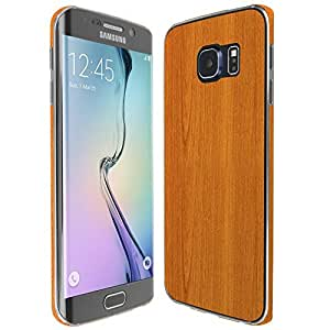Skinomi® TechSkin - Samsung Galaxy S6 Edge Screen Protector + Light Wood Full Body Skin w/ Free Lifetime Replacement / Front & Back Wrap / Premium HD Clear Film / Ultra Invisible & Anti-Bubble Shield