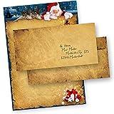 TATMOTIVE Briefpapier Weihnachten NORDPOL EXPRESS 25 SETS DIN A4 90g mit Umschläge OHNE Fenster für Laserdrucker und Tintenstrahldrucker