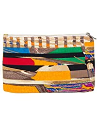 Scoop Street 22643BCamel-Blue-Red-Black Print Latest & Trendy Cosmetic Pouch/Bag For Women/Girls