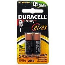 Guilty Gadgets Duracell alcali-mangan-pilas para auto de seguridad de alarma y llaves de coche, 23 A, 23 AE, A 23, V23GA, MN21, LRV08, 12 V, 2 pcs