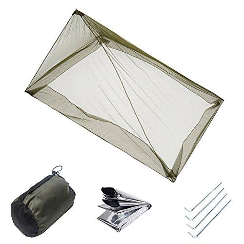 Gaeruite Camping Moskitonetz für Einzel Camping Bed-Einzelbett , Camping Moskitonetz für 1 Person ,Moskitonetze im Freien ,kompakt und leicht (1 Lb Net)