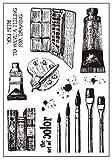 Clear Stamp Malerei Pinsel ♣ buyby Stamping Druck DIY Scrapbook Schablonen Vorlage