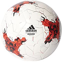 adidas Confedsala5X5 Balón de Fútbol Sala Copa Confederaciones, Hombre, Blanco (Rojo / Rojbri / Blanco / Negro), 3