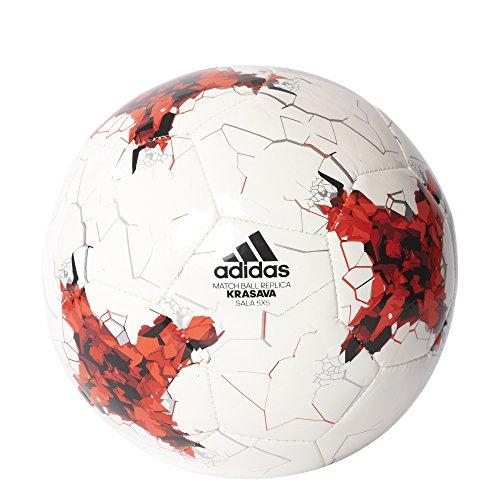 adidas Confedsala5 X 5 Balón de Fútbol Sala Copa Confederaciones, Hombre, Blanco (Rojo / Rojbri / Blanco / Negro), 3