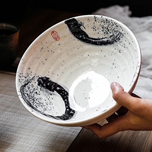 Flores pinelia Tazón de Fuente de Ensalada de cerámica Creativa de la Fruta Tazón de Fuente Retro Ramen Deep Soup Big Bowl