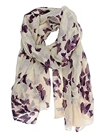 World of Shawls New Butterfly Print Ladies Celebrity Style Scarves Maxi, Scarf, Wrap, Sarong, shawls