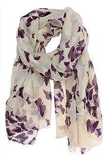 Sarong Shawl Ladies Grey Butterfly Print Fashion Scarf Wrap