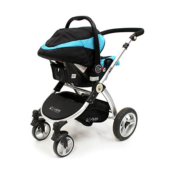 i-Safe System - Ocean Trio Travel System Pram & Luxury Stroller 3 in 1 Complete With Car Seat iSafe  8