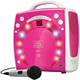 Singing Machine SML283PNK Portable Plug-n-Play Karaoke CDG Player mit extra bonus CD's pink