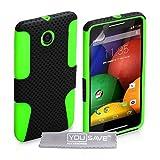 Yousave Accessories® mo-rola-z318Schutzhülle aus Gel/Silikon für Motorola E schwarz/grün