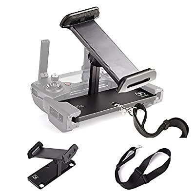 KUUQA Aluminum-Alloy Foldable Tablet Stand Holder Extender with Lanyard for Mavic Pro/Mavic 2/Mavic Air/Dji Spark Remote Controller Device (Drone Not Included)
