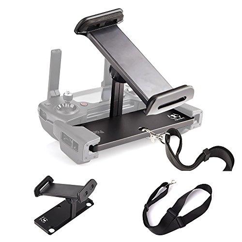 KUUQA Aluminium-Alloy Faltbarer Tablet-Ständer Halter Extender mit Lanyard Kompatibel mit Mavic Pro / Mavic 2 / Mavic Air / Spark-Fernbedienung