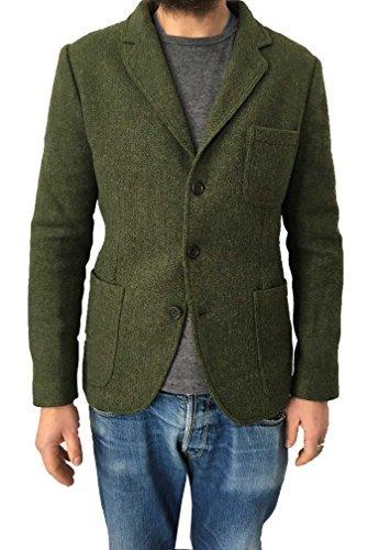 ASPESI giacca uomo verde mod MURAKAMI WINTER I6 A CJ35 E700 100% lana MADE IN ITALY (L-50)
