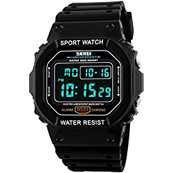 LED Digital Military Sport Waterproof quartz movement Men Watches Skmei 1134