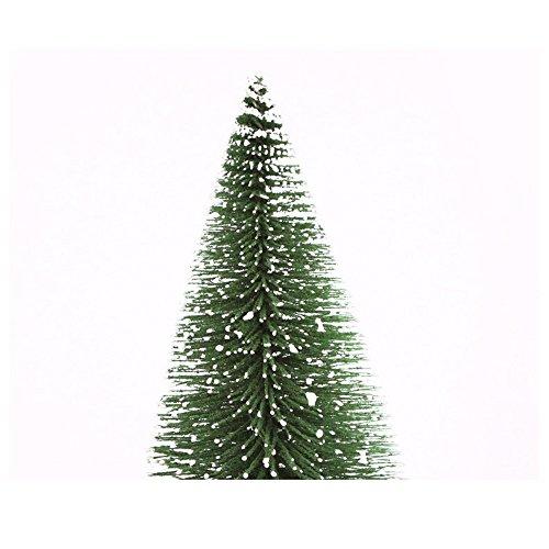 Künstlicher Weihnachtsbaum MuSheng Mini Kiefer Natur Weiß Weiss Beschneit Christbaum mit Weihnachtsdeko Geschmückter Baum Hoch 10cm-30cm (Grün, 25 cm)