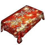 Weihnachts tischdecke Drucken Rechteck Tisch Decken Urlaub Party Home Decor YunYoud Winter Schneeflocke Muster drucken