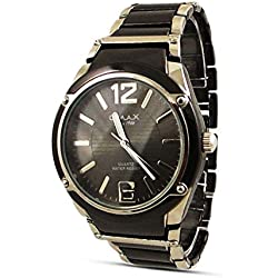 Expensive Mens Watch Sale - Black Analogue Dual Color Band Swiss Watch Uk
