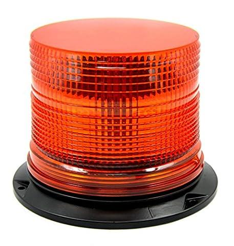 Strobe Light Beacon LED Amber Single Flash Warning light Emergency Light DC 12V/24V Waterproof